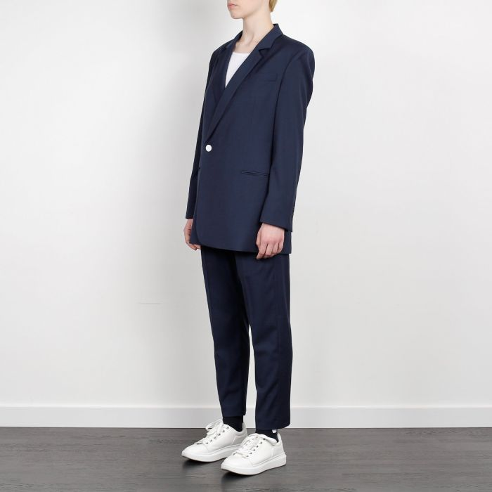 ASYMETRICAL BLAZER NAVY BLUE