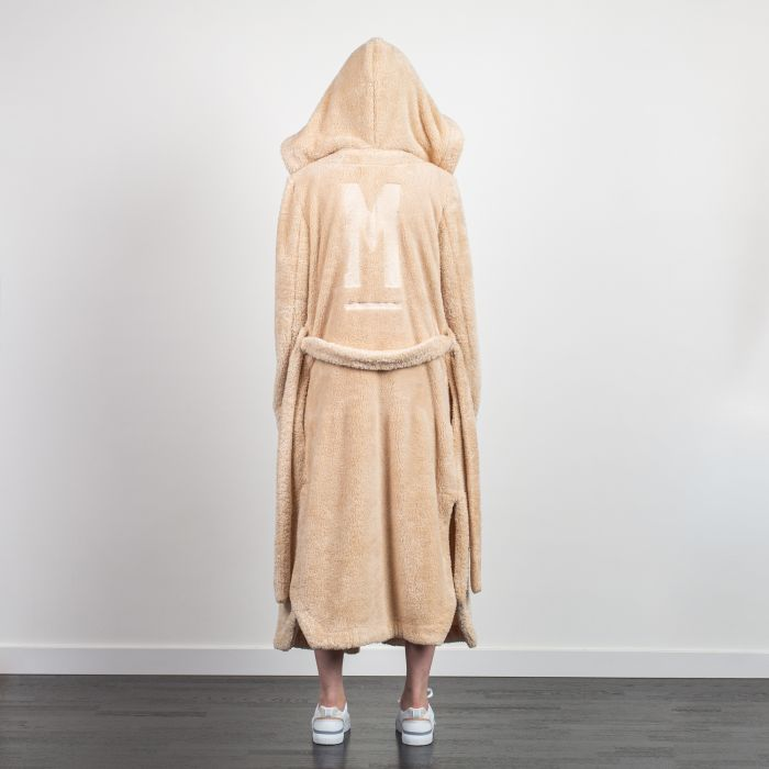 HOODED STYLE KIMONO DRESSING GOWN BEIGE