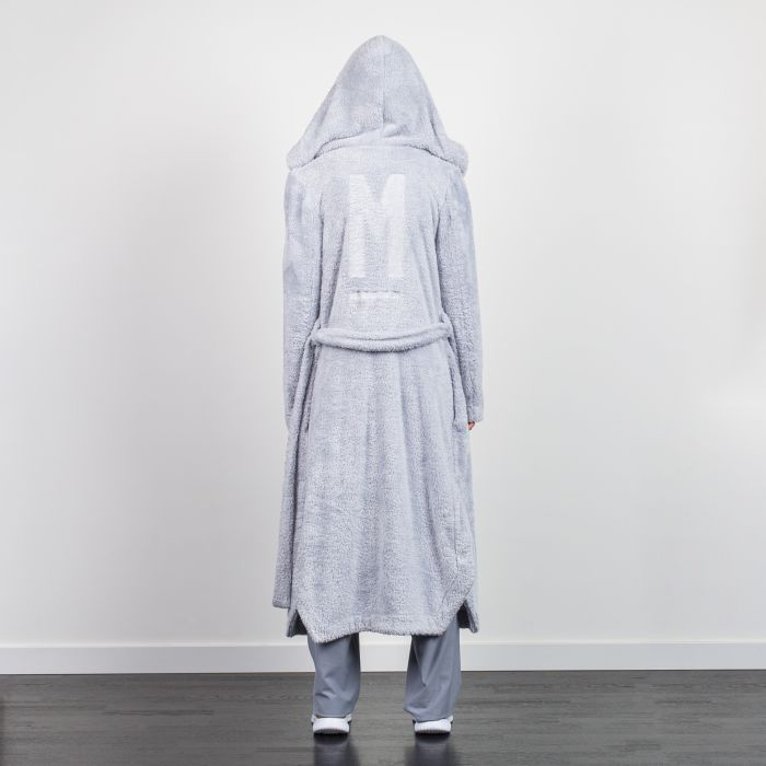 HOODED STYLE KIMONO DRESSING GOWN GREY