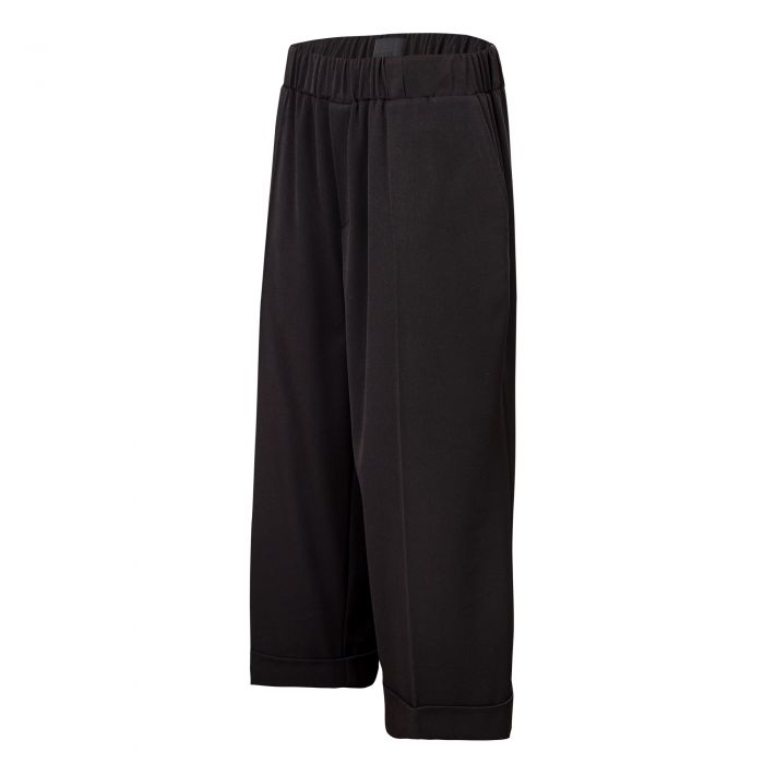 WIDE LEG ELASTIC BAND TROUSERS
