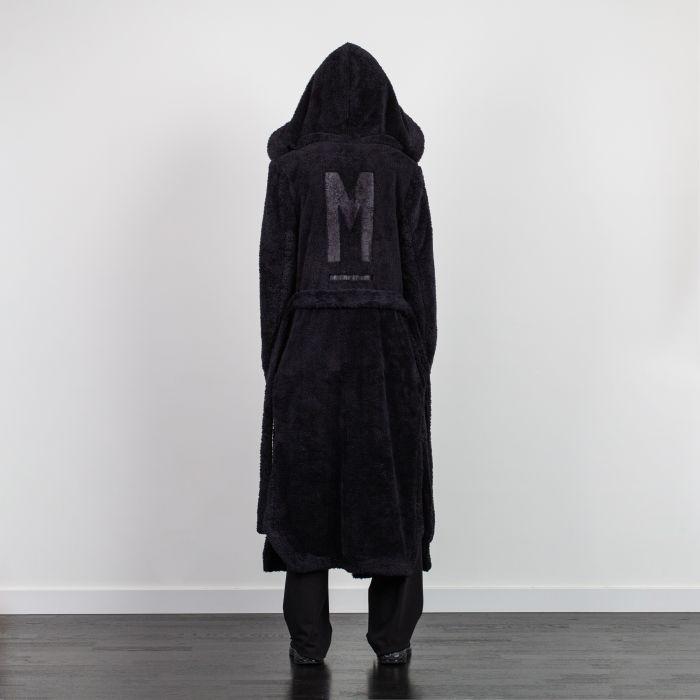 HOODED STYLE KIMONO DRESSING GOWN BLACK