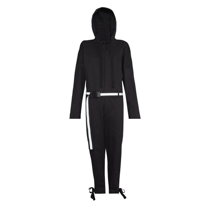 JUMPSUIT WITH REFLECTIVE BELT GREY