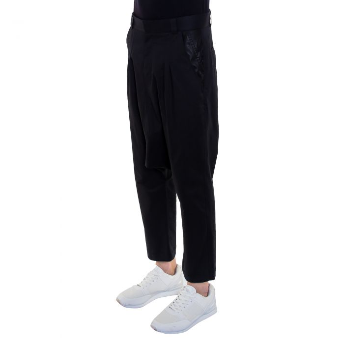 DROP TROUSERS BLACK