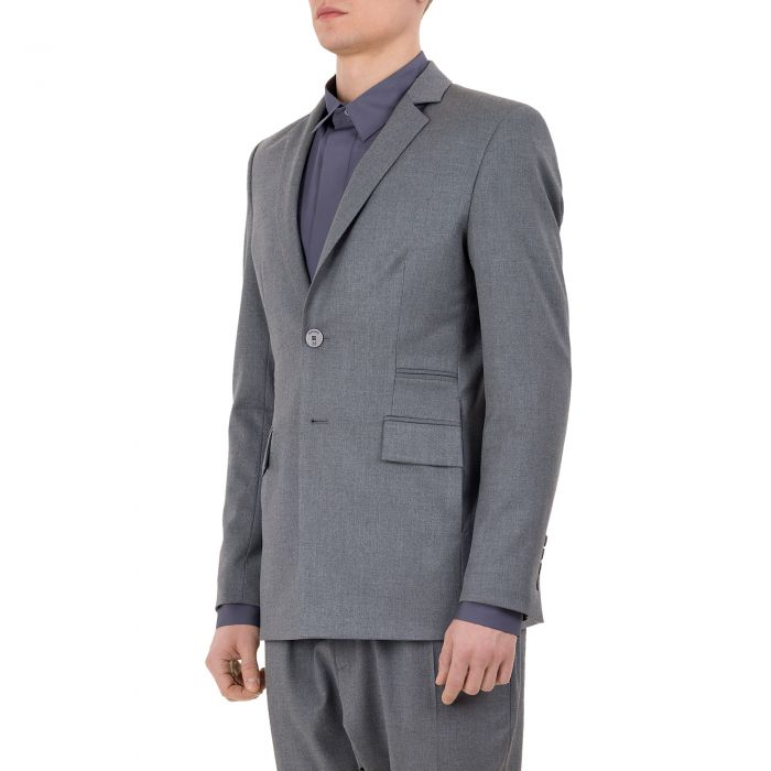 DOUBLE BUTTON BLAZER GREY
