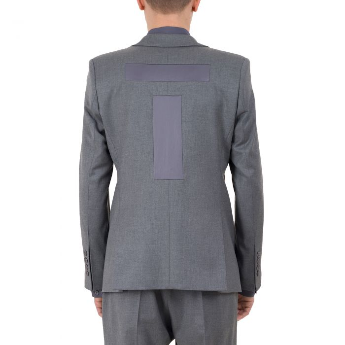 SINGLE BUTTON BLAZER GREY