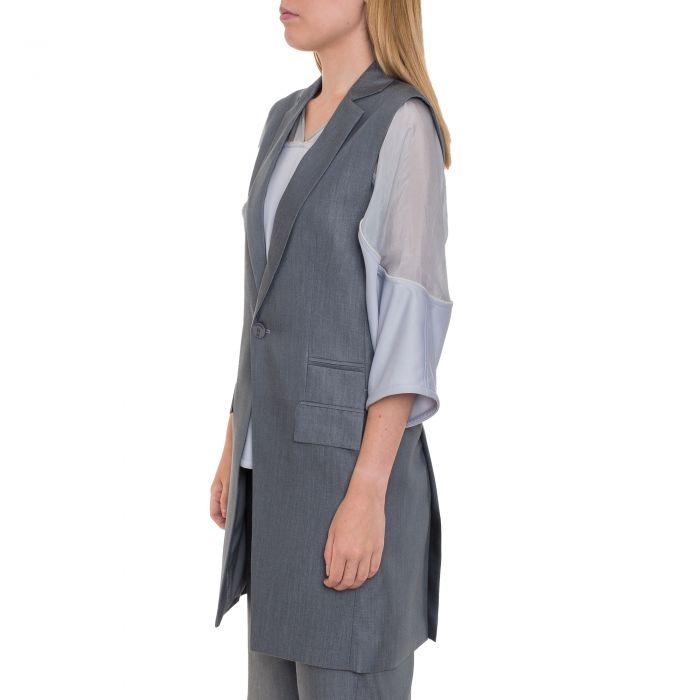 GREY SHADOW BLAZER SLEEVELESS