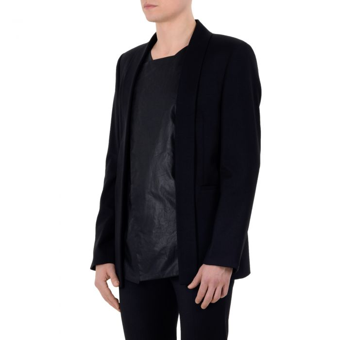 WAXED PANEL BLAZER BLACK