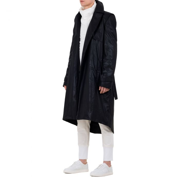 WAXED LONG COAT BLACK