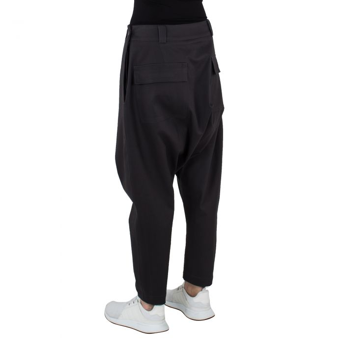 LOW TROUSERS DARK GREY