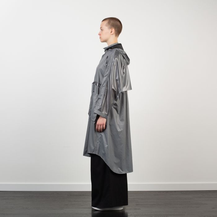 HOODED CAPE GREY