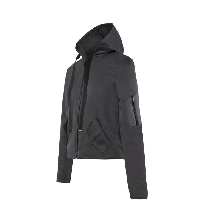 HOODED JACKET DARK GREY