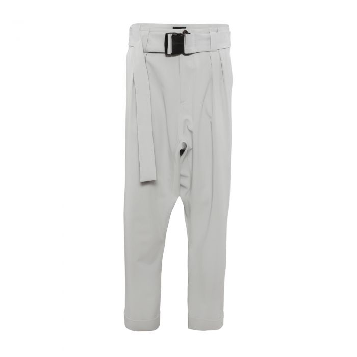 GUSSET TROUSERS WITH BELT GREY