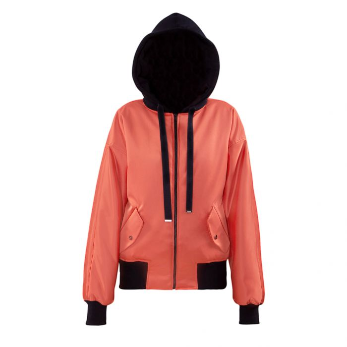 HOODED BOMBER ORANGE